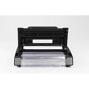 CASO VC11 Vakuumierer - Vakuumiergerät, Lebensmittel bleiben bis zu 8x länger frisch - natürliche Aufbewahrung ohne Konservierungsstoffe, 30cm lange Schweißnaht, inkl. 10 Profi- Folienbeutel