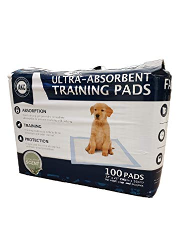 American Kennel Club AKC 100-ct Eucalyptus Ultra-Absorbent Odor Control Pet Training Pads, 6-Layer Protection