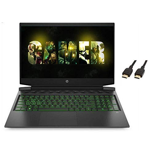 HP Pavilion 2021 Premium 16.1' FHD Laptop Computer, 6 Core Intel Core i7-10750H 2.6 GHz, 16GB RAM,1TB SSD, NVIDIA GTX 1650 Ti, Backlit Keyboard,No DVD,Webcam,Windows 10,ROKC HDMI Cable