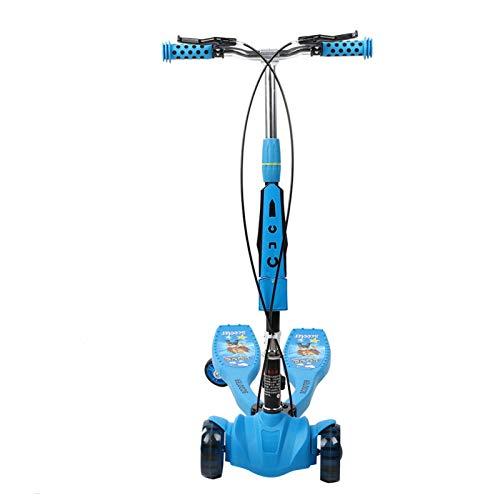 DAUERHAFT Klappbarer Inline-Roller Höhenverstellbarer Roller, Gruppenaktivität, Kinder Indoor Outdoor(Niagara Blue (Music))
