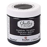 Rayher 38868574 Pintura a la tiza Chalky Finish, color ébano, 236 ml, Para decoración vintage