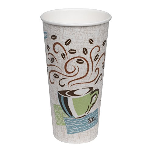 Dixie PerfecTouch 20 oz. Insulated Paper Hot Coffee Cup by GP PRO (Georgia-Pacific), Coffee Haze, 5320CD, 500 Count (25 Cups Per Sleeve, 20 Sleeves Per Case), Coffee Haze Design