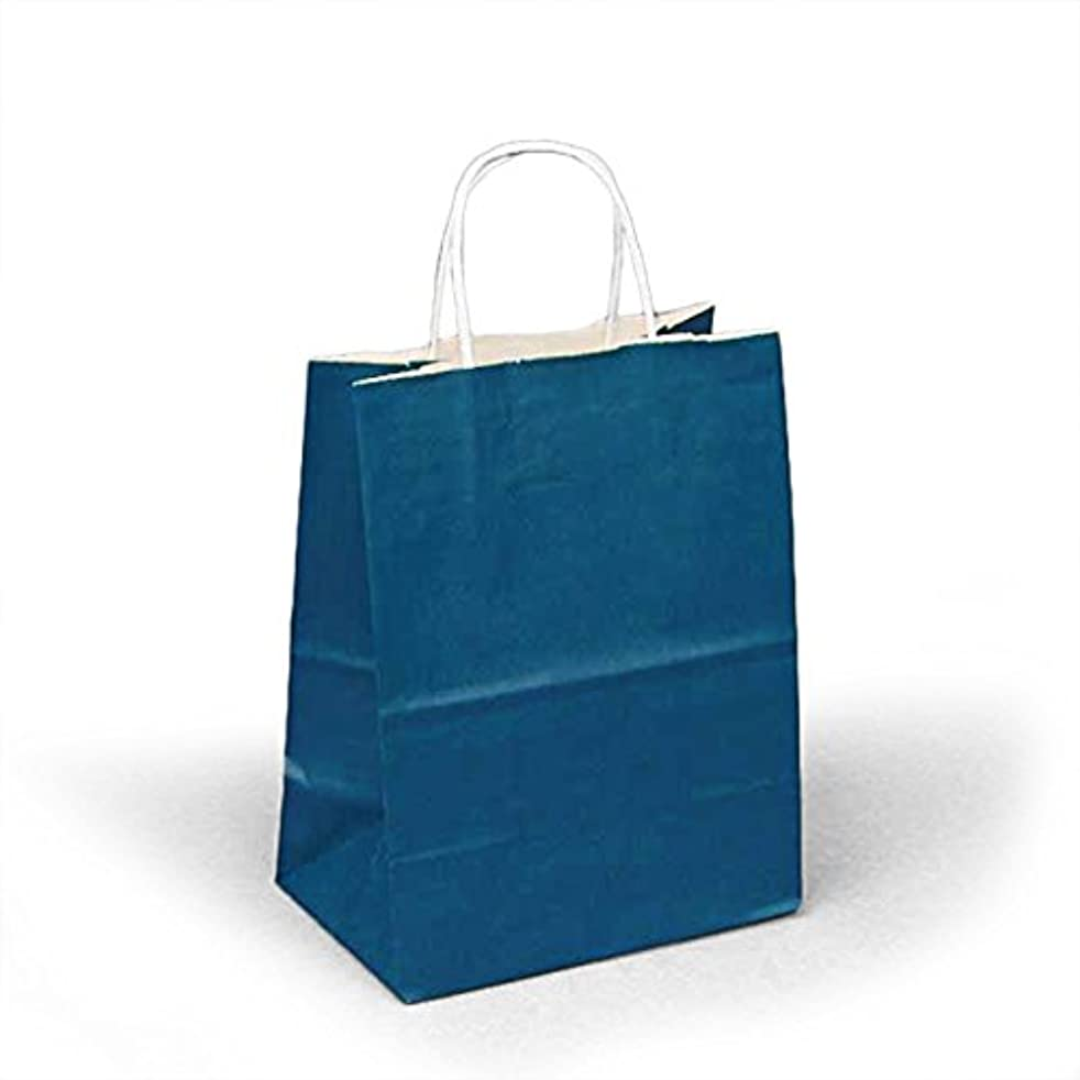 Panda Party Supplies Twisted Handle Matte Navy Blue Paper Shopping Gift Bags (25)