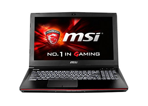MSI GE62-6QD16H11 39,6 cm (15,6 Zoll) Notebook (Intel Core i7 -6700HQ (Skylake), 16GB DDR4 RAM, 1TB HDD, 128GB SSD, NVIDIA Geforce GTX 960M, Win 10 Home) schwarz
