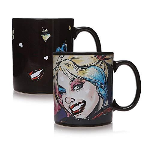 Birds of Prey Harley Quinn - Tasse Thermoeffekt Kaffeebecher - Mad Love - Keramik - Geschenkbox
