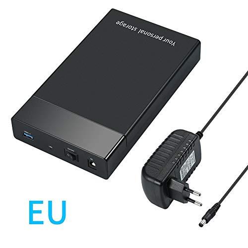 USB 3.0 Externa de Disco Duro de 2,5 Pulgadas SATA 3.5 UASP Vector Unidad 10 TB (Carcasa Negro de la Unidad de Disco Duro HDD Caddy SSD portátil)