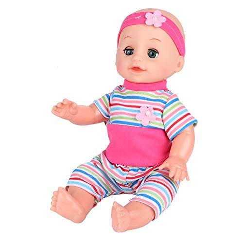 Espressioni carine giocattolo bambola di alta qualità, giocattolo bambola educativo, abbigliamento sostituibile Regali di(SY004-10 powder)