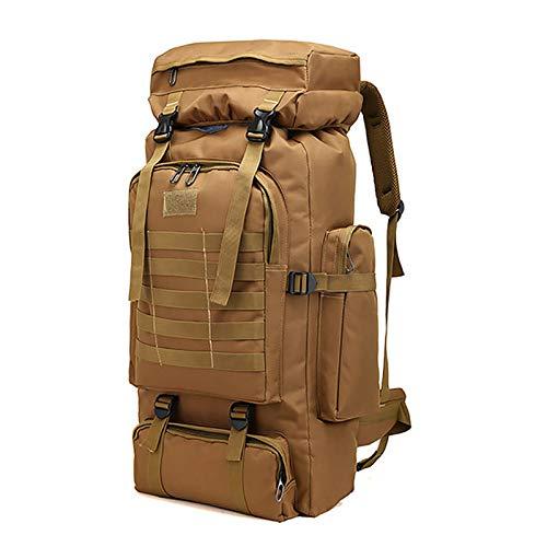 WintMing 70L Camping Hiking Backpack Molle Rucksack Waterproof Traveling Daypack, No Internal Frame...