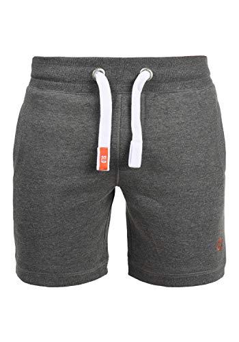 !Solid BennShorts Herren Sweatshorts Kurze Hose Jogginghose Mit Fleece-Innenseite Und Kordel Regular Fit, Größe:M, Farbe:Grey Melange (8236)