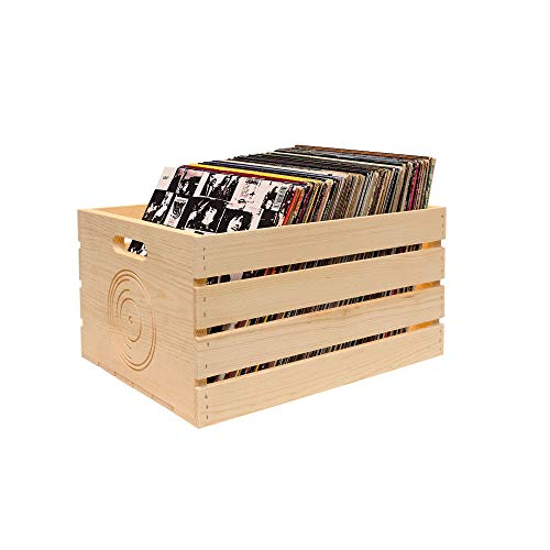 6. Pine Storage Crate for LP's/Albums (2 Pack)