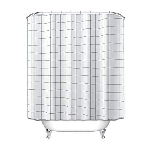 maiqu1983 Einfach PEVA Dusche Vorhänge Duschvorhänge Wasserdicht Badezimmer Duschbad Badewanne Einhaken (120 X 180cm / 47