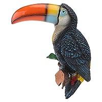BESTOMZ オウム像樹脂オウム置物鳥に分岐飾りビッグ口オウム彫刻熱帯鳥の装飾ランドスケープガーデンホームオフィスデスクトップケーキ