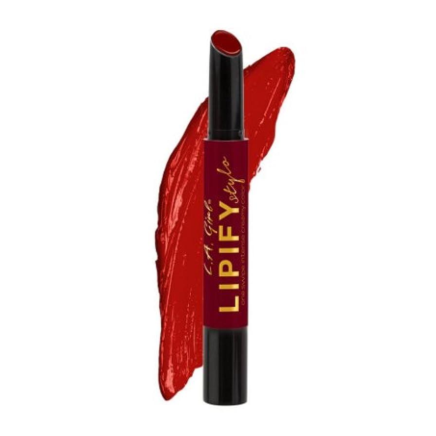 人工蓮竜巻(6 Pack) L.A. GIRL Lipify Stylo Lipstick - Lust (並行輸入品)