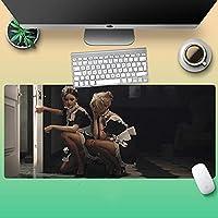 2番目の要素レム 3Dプリント 特大のマウスパッド アニメーションノートブックパッドクリエイティブは、学生のゲームを増やすために厚くカスタマイズすることができます滑り止めキーボードマットホームオフィスコンピュータデスクマット耐摩耗性と洗える