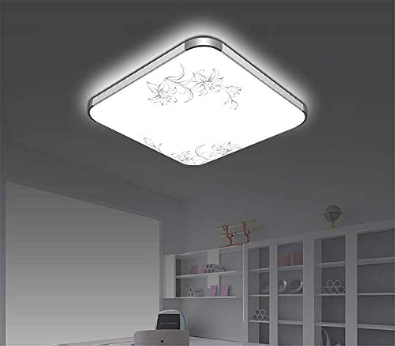 LED flache Deckenleuchte rechteckige Aluminium Wohnzimmer Deckenleuchte moderne minimalistische Schlafzimmer Lampe Esszimmer Balkon Deckenleuchte, 45cm pflegendes Licht