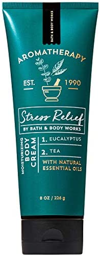 Bath and Body Works Aromatherapy Stress Relief Eucalyptus Tea Body Cream 8 Ounce 2019 Edition product image