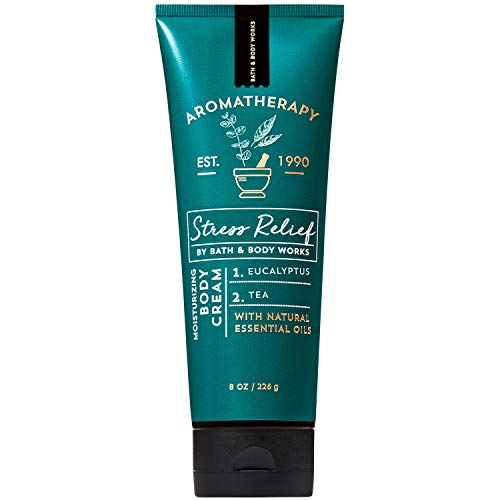 Bath and Body Works Aromatherapy STRESS RELIEF - EUCALYPTUS + TEA Body Cream 8 Ounce (2019 Edition)
