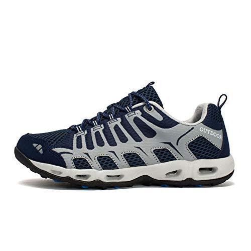 Aerlan Gym Shoes Lightweight Shoes,Botas de montaña Deportivas,Zapatos para Caminar.Zapatos para Aguas Arriba.Zapatos Antideslizantes para Exteriores.Zapatos para Caminar-Rose Red_37/235mm