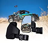 Chupacabra Offroad Rear View Side Mirror for UTV (Pack of 2) For 1.6' - 2' Roll Cage Bar Break Away w/ Adjustable Arm (Driver and Passenger Side)