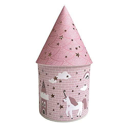 Baiany Lámpara LED Infantil, Iluminación Nocturna indirecta Quitamiedos. Mesilla habitación. Decoración Unicornio Rosa. Regalo para Nacimiento. 11,5 x 21,5 cm