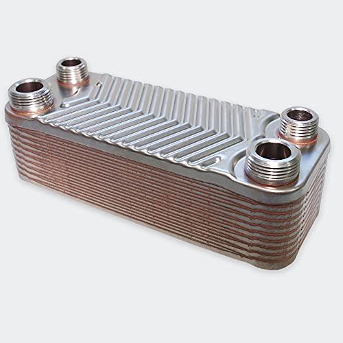 Hrale Intercambiador calor térmico acero inoxidable 20 placas Termocambiador placas máx. 44 kW