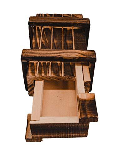 store-HD Magische raadselbox geschenkdoos knapperige puzzelbox houten kist gadgets geheim vak geldgeschenken verpakking waardebon verjaardag kleine geschenken voucher sieraden klein puzzel geduldspel