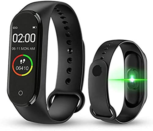 Digibuff Bluetooth Fitness Smart Health Band Smart Fitness Band with Call Whatsapp Alert Stop Watch Pedometer for Men Women Boys Girls