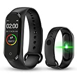 Digibuff Bluetooth Fitness Smart Health Band/Smart Fitness Band with Call Whatsapp Alert Stop Watch Pedometer for Men Women Boys Girls