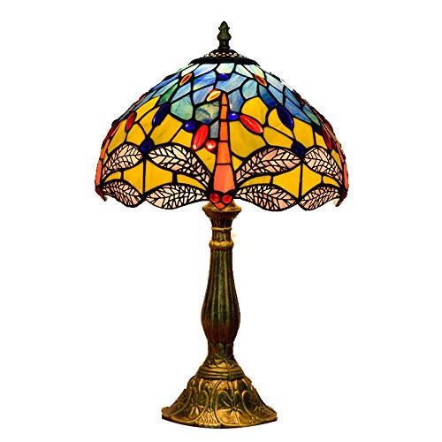 JAY Libelle Tiffany Tischlampe-12inch Französisch Barock Rokoko-Stil Nachttischlampen...