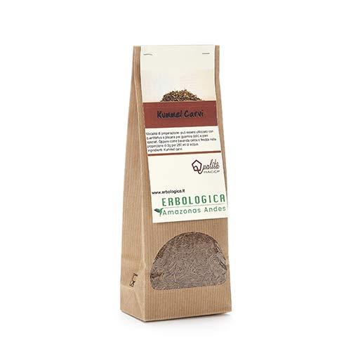 Kummel carvi semi 100% naturale (Cumino dei prati) 200 grammi – ottimo per tisana digestiva, come condimento per insalata, prodotti da forno e carne - Erbologica Amazonas Andes