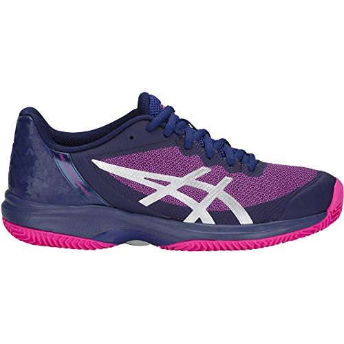 ASICS Damen Tennisschuhe Gel Court Speed 3 Clay blau/pink (957) 39EU