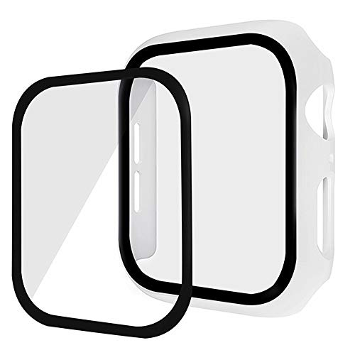 Compatible para Apple Watch Series 3 Series 2 42mm 38mm Protector Pantalla Cristal PC + 9H Templado Ultra Transparente Carcasa para Apple Watch, Funda de iWatch Serie 3 Serie 2