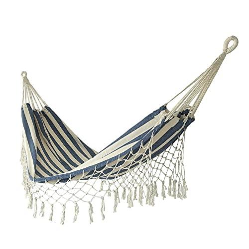 BBZZ, amaca in tela addensata, amaca da appendere a dondolo per esterni, viaggi, campeggio, campeggio, tenda, pieghevole, doppia amaca da giardino, portatile, comoda