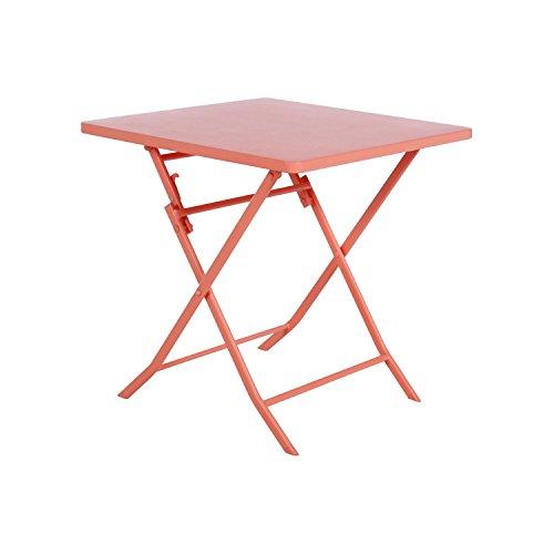 Hespéride - Tavolo quadrato Greensboro, colore: Corallo