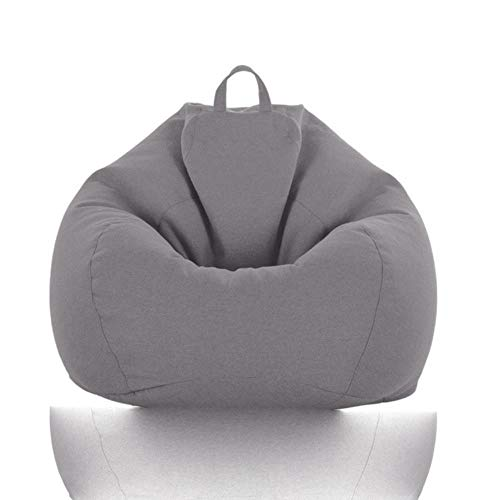 GJHGJ Comfortable Lazy Sofa Cover Without Filler Linen Cloth Lounger Seat Bean Bag Pouf ff Chair Cover Tatami Living Room-Color 18,Sofa Cover-100X120cm