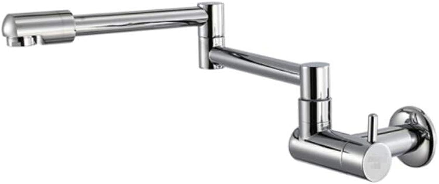 Taps Mixer?Swivel?Faucet Sink Walled Kitchen Washbasin Single Cold Faucet Retractable redary Stretch Folding Mop Pool Lengthening Faucet