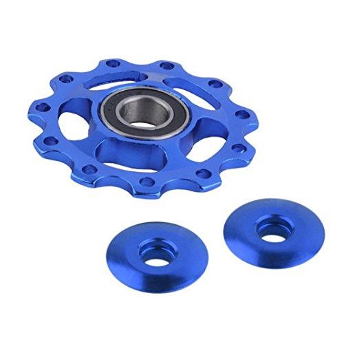 hunpta 11tooth MTB Ceramic Bearing Jockey Rueda Desviador Polea para bicicleta de bicicleta de carretera, azul