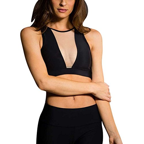 Onzie Yoga Briana Bra 3641 Black Nude MESH (Black/Nude Mesh, Small/Medium)