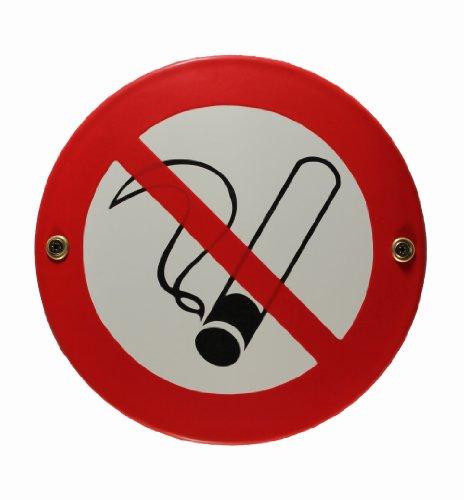 BBV Emaille Schild Rauchen verboten 15 cm Rauchverbot Nichtraucher Nichtraucherzone wetterfest und lichtecht Emailleschild