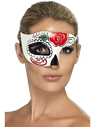 UNISEX MEXICAN DAY OF THE DEAD SUGAR SKULL HALLOWEEN FANCY DRESS EYEMASK