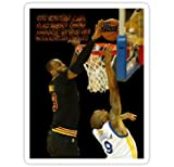 Chili Print Lebron Blocking The Haters - Sticker Graphic Bumper Window Sicker Decal - State Love Sticker