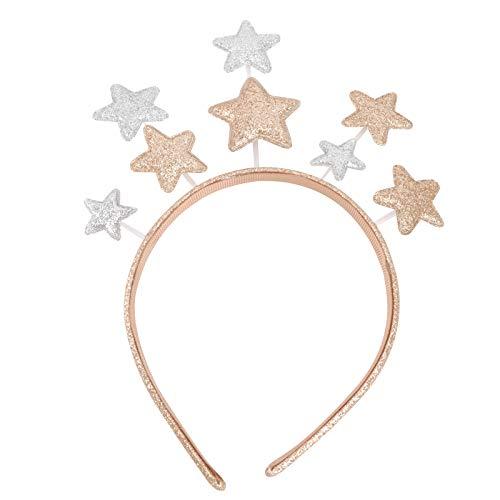 Lurrose Diadema Estrella Brillo Estrella Boppers Diadema Fiesta Accesorios para el Cabello para Festival de Cumpleaños