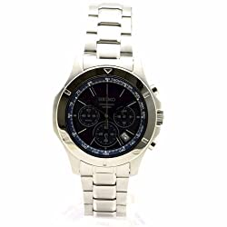 Seiko Chronograph Blue Dial Stainless Steel Mens Watch SSB103 - see my reviews