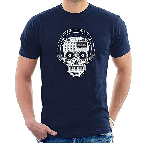 Skull Synthesizer Dj T-Shirt Party Festival Technics Pioneer Moog