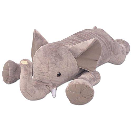 vidaXL Kuscheltier Elefant XXL 120cm Plüschkrokodil Plüschtier Stofftier
