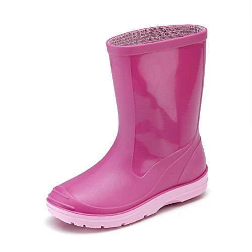 Beck Basic 486 - Botas plisadas para niños, Rosa (Pink 6), 22