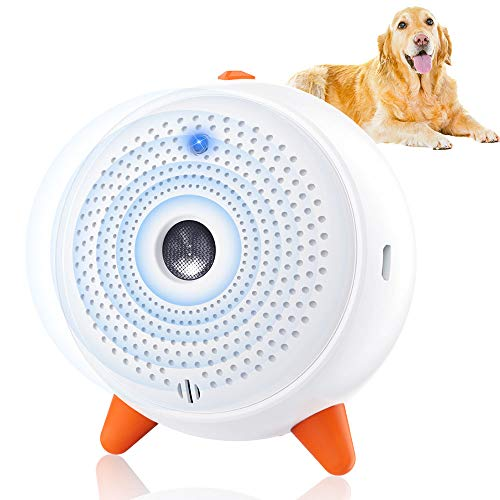 Antiladridos para perros, por ultrasonidos, dispositivo antiladridos, para perros, seguro para personas con LED, repelente para perros pequeños y grandes, para interiores y exteriores