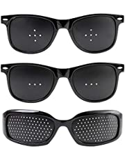ピンホールメガネ 【3モデルセット】 視力回復 老眼回復トレーニング 視力回復メガネ メッシュゴーグル 眼鏡 目が良くなるメガネ 乱視 近視 おしゃれ 生活 雑貨 【Hi State Clear】