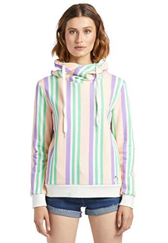 khujo Damen Sweatshirt CINTY Kapuzenpullover mit Kordelzug Hoodie aus Baumwolle