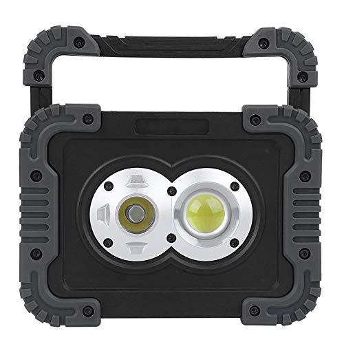 Linterna LED recargable para acampar, linterna desmontable, focos portátiles a prueba de agua IP44, para emergencias por huracanes, senderismo, pesca y más